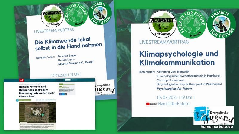 Lokale Veranstaltungsangebote zum Klimaschutz (online)