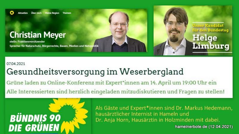 Gesundheitsversorgung im Weserbergland – Grüne laden zu Online-Konferenz mit Expert*innen aus der Region ein