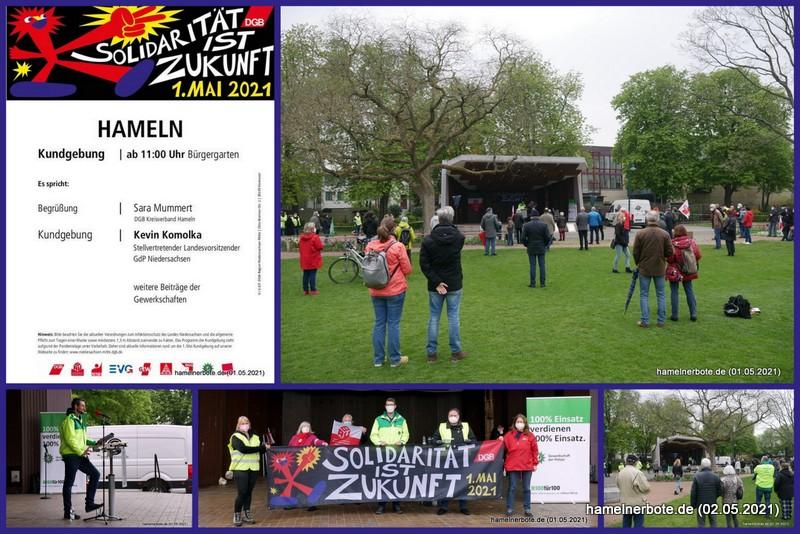 Maikundgebung 2021 im Bürgergarten Hameln
