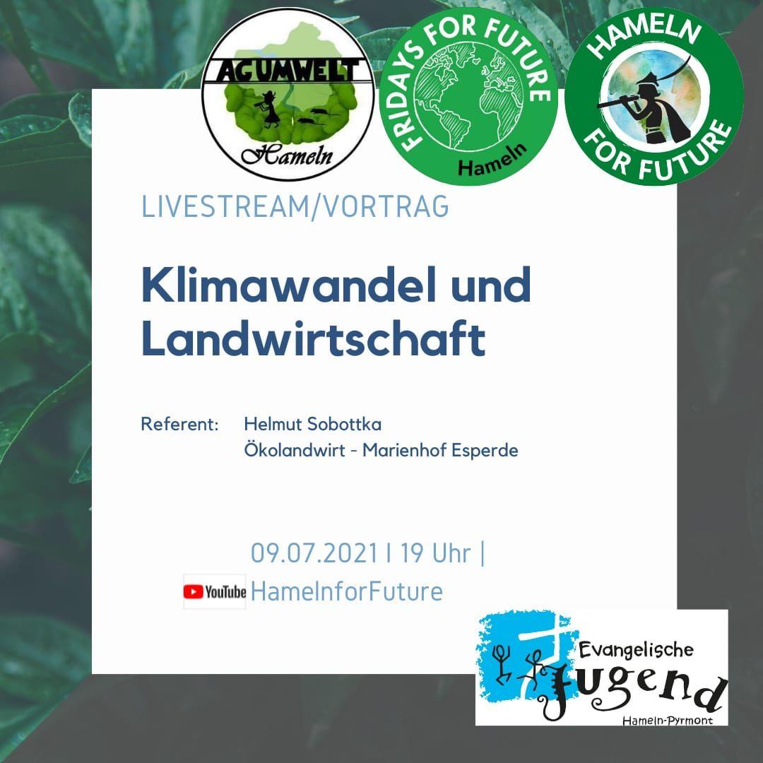 Veranstaltungshinweis: 09.07.2021, 19 Uhr – Vortrag mit dem Ökolandwirt Helmut Sobottka vom Marienhof Esperde: