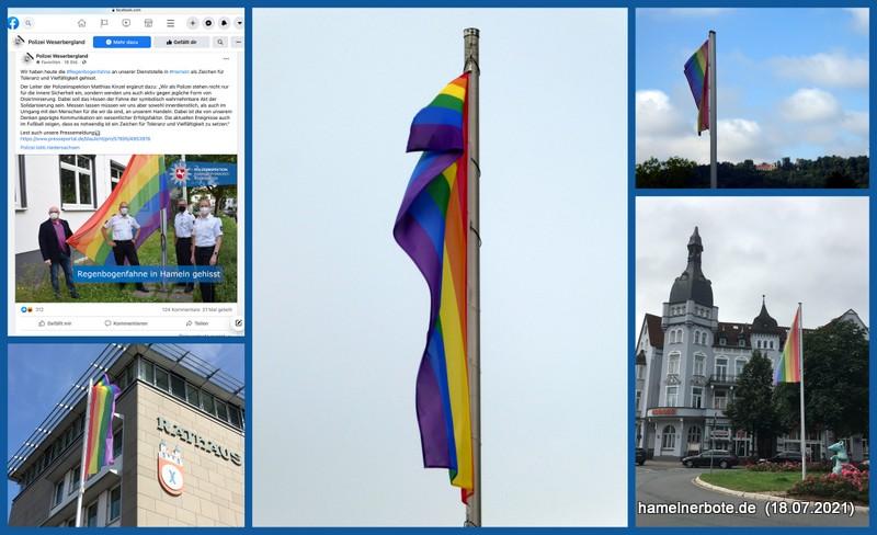 Die Regenbogenfahne über Hameln – Eine Zusammenfassung 2021