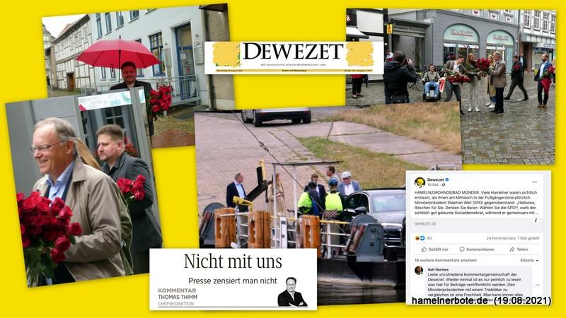 MP Weil in Hameln – Impressionen – die DEWEZET und Facebook