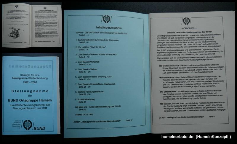 Hameln Konzept II – Strategie für eine ökologische Stadtentwicklung 1992 – 2002