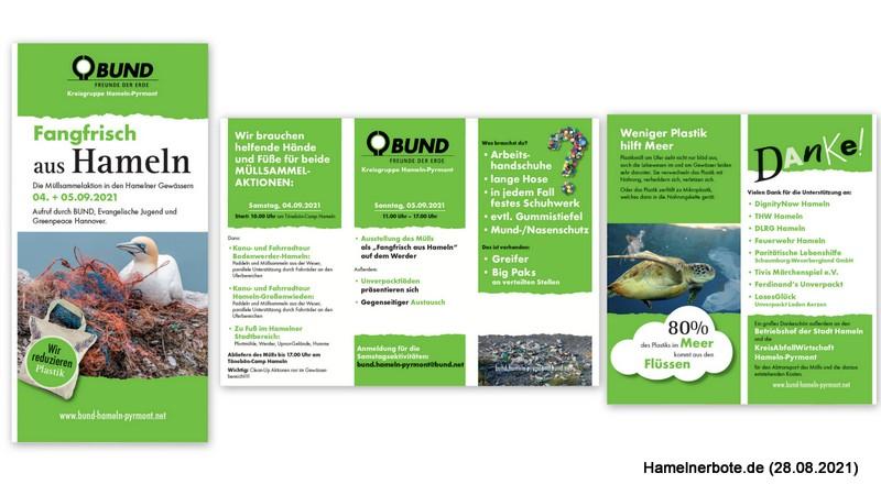 Ankündigung: Müllsammelaktion Weser am 04.+05.09.2021