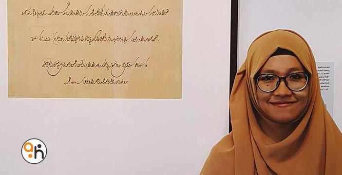 Kaligrafer Pameran Sharjah 2016 (3) Eti Najihatul Himmah