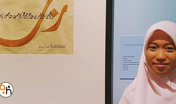 Kaligrafer Pameran Sharjah 2016 (1) Ulin Nikmah