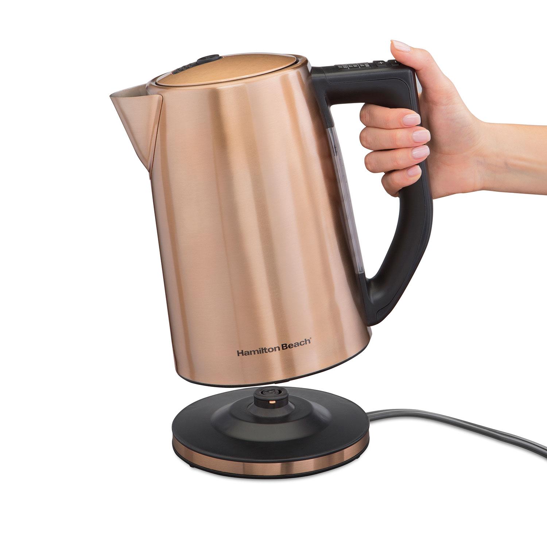 copper finish 1 7 liter variable temperature kettle 41026 hamiltonbeach com