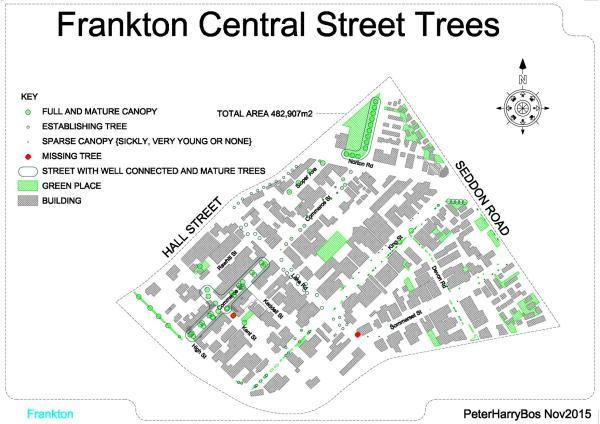 Frankton central Trees