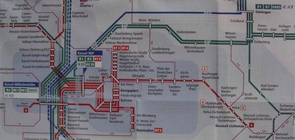 Hann Munden Rail Map