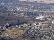 A view of Dundas along Main Street West.