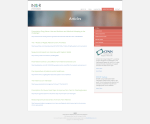 International Network for Outcomes Research - Inside