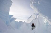 Climbing over pass