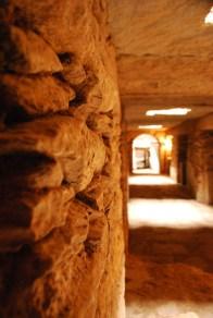 Excavated tombs under the stellar
