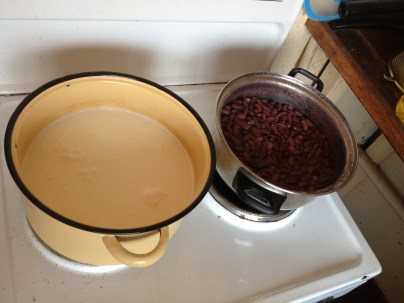 Pasteurising milk and making refried beans