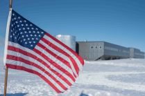 American flag at the Geographical pole