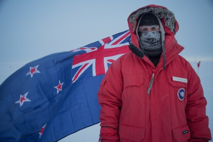 Newly rehung NZ flag at Ceremonial pole