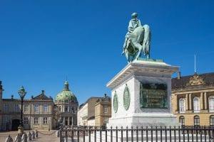 Equestrian statue of Frederik V at Amalienborg