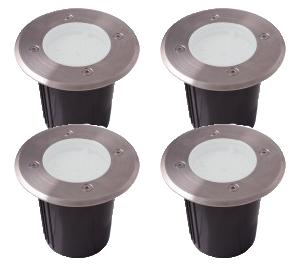 KIT 2 à 4 spots BLANC chaud - Diam 100 mm