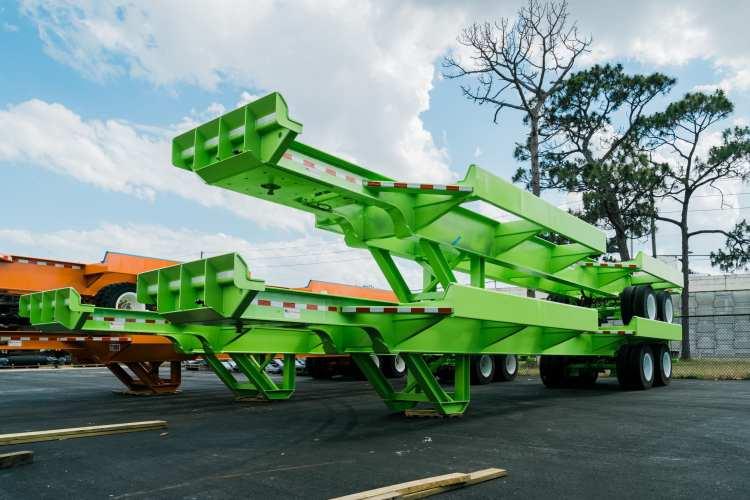 Green steel trailers
