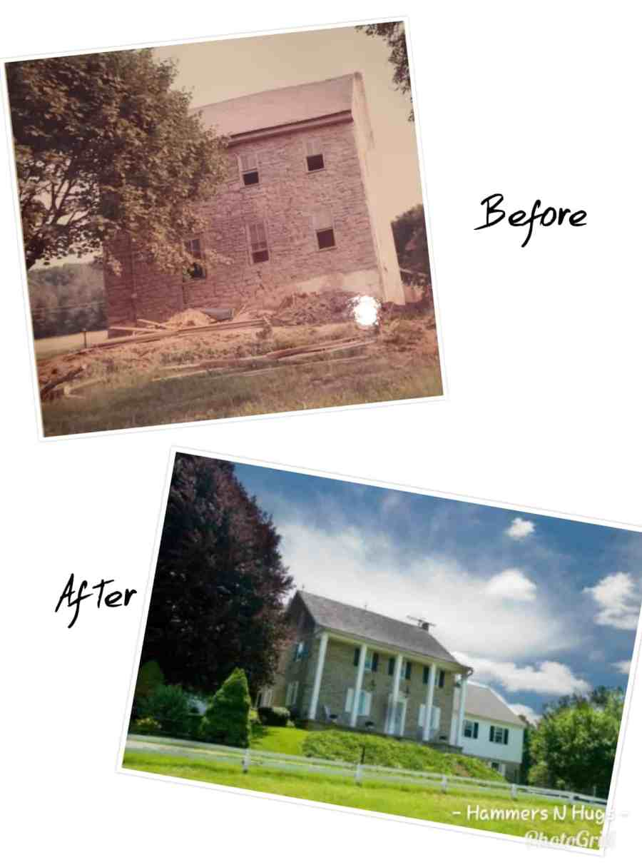 Renovated Stone Farmhouse Before and After Tour