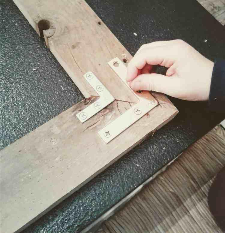 DIY farmhouse cork board organizer