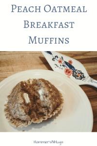 peach oatmeal breakfast muffins