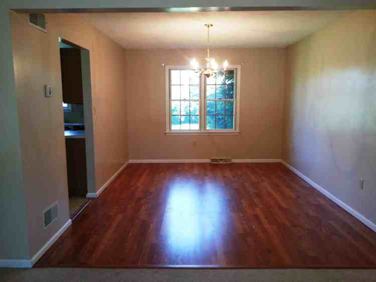Colonial foreclosure dining room renovation