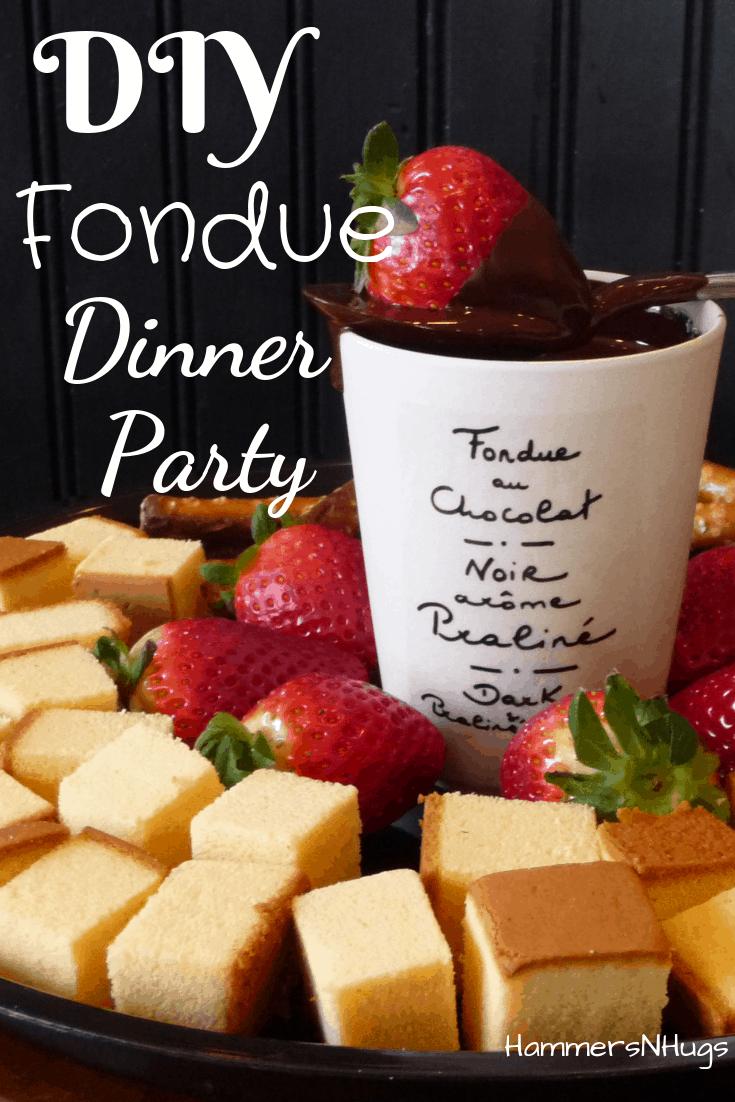 diy fondue dinner party