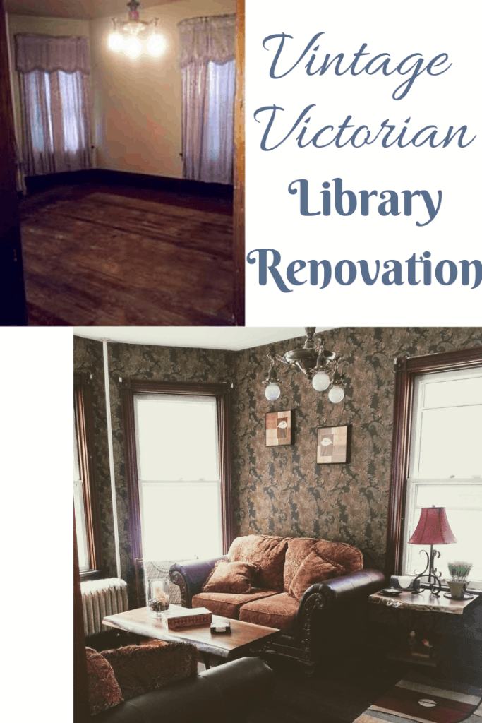 vintage victorian library renovation