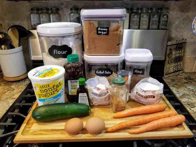 Zucchini Carrot Cake Muffins
