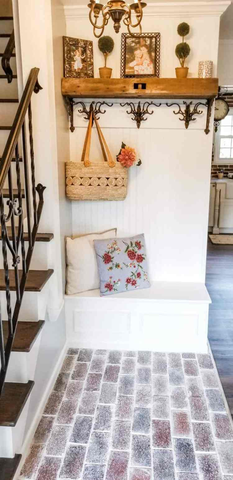 Before and After French Country Cottage Foyer Reveal