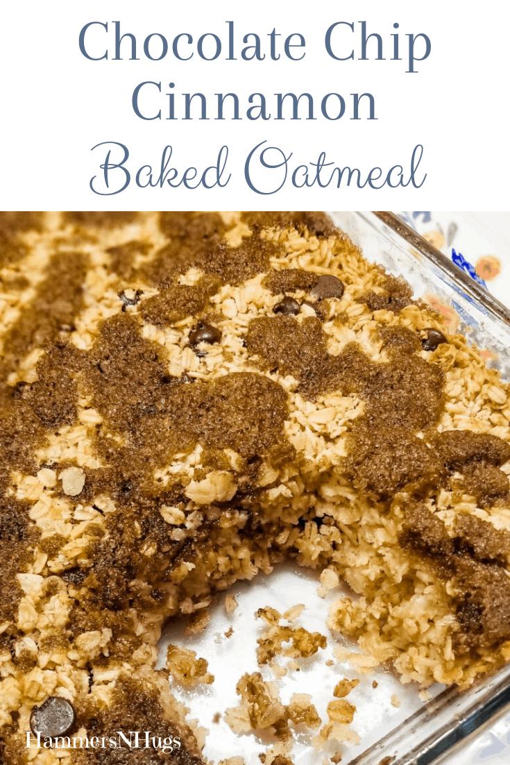 Chocolate Chip Cinnamon Baked Oatmeal Recipe