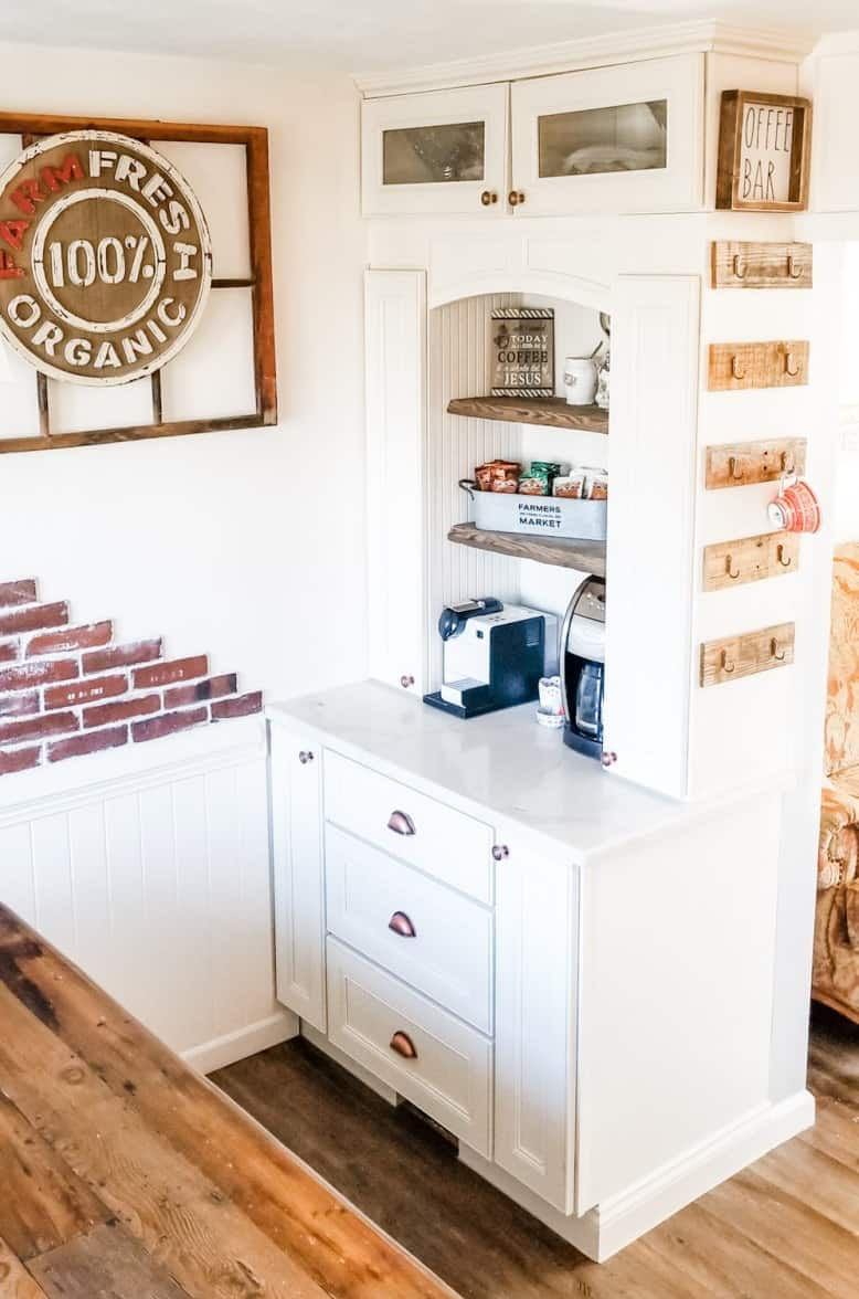 French Country Farmhouse Style Coffee Bar Renovation