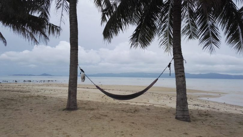 A lonely hammock on Koh Phangan