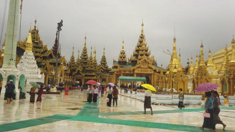 People at Shwedagon Pagoda