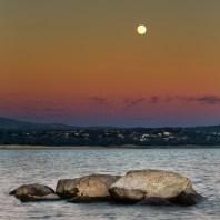 Full Moon Over El Dorado Hills by Greg Mitchell.