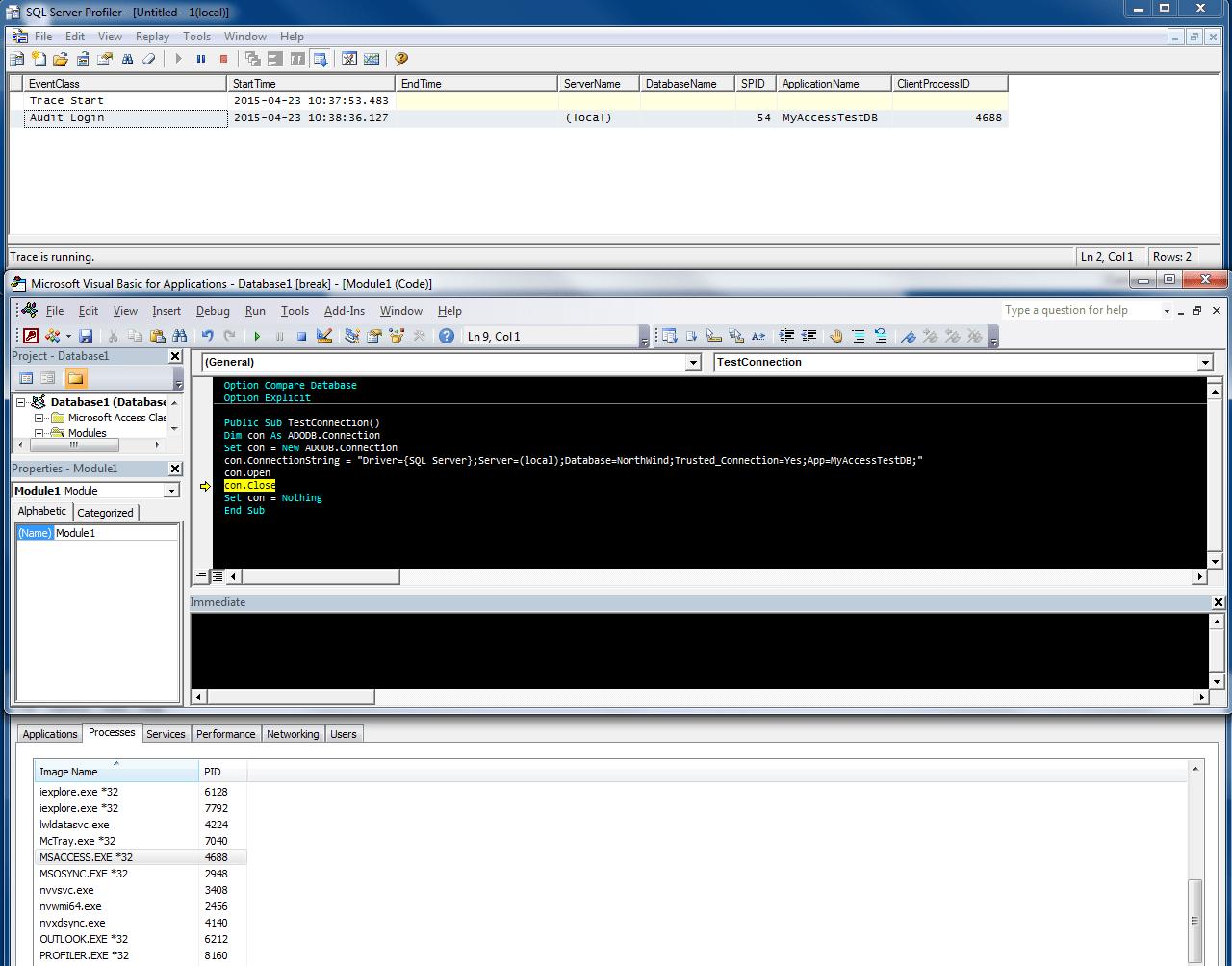 Excel Vba Ado Sql Server