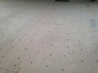 Subfloor - 4608 screws!