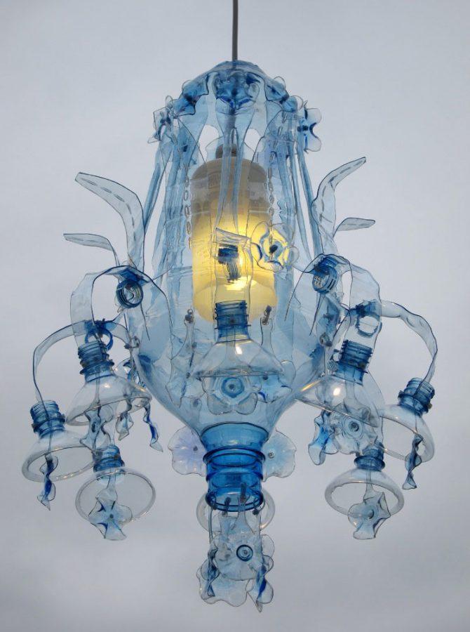 Chandelier dari botol bekas, kerajinan dari botol bekas