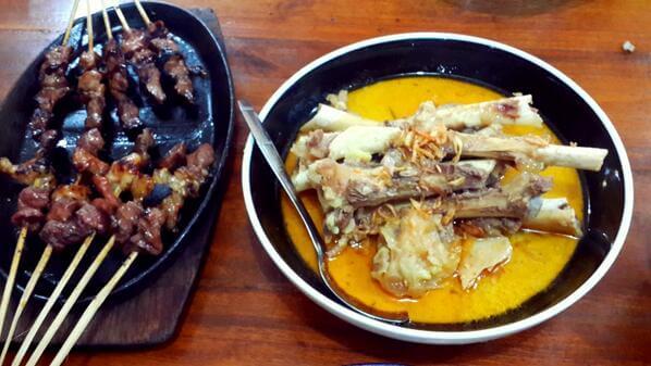 sate dan gule kambing, makanan khas tulungagung