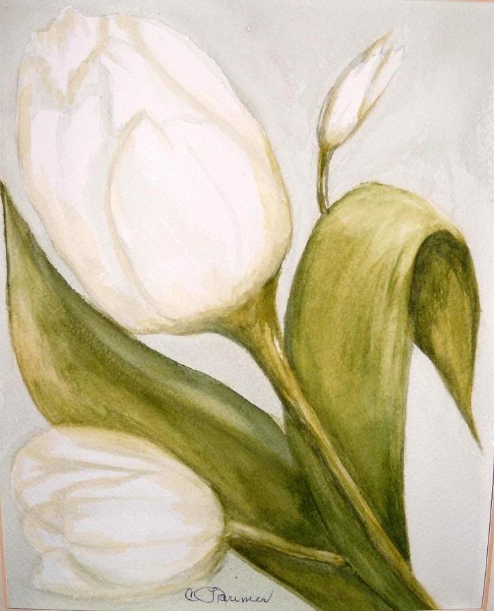 85 Gambar Lukisan Flora Berwarna Kekinian