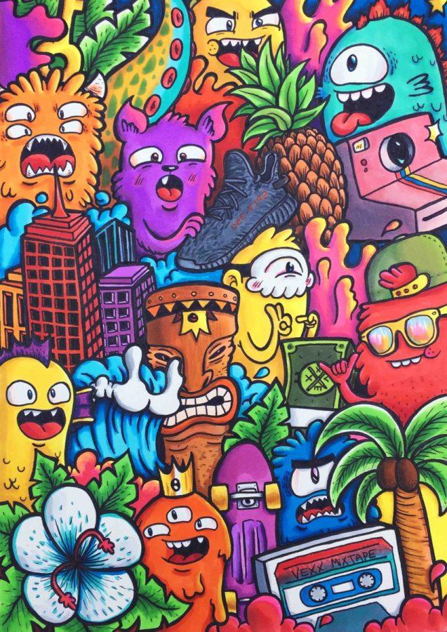 550 Koleksi Gambar Doodle Art Keren Simple Terbaru