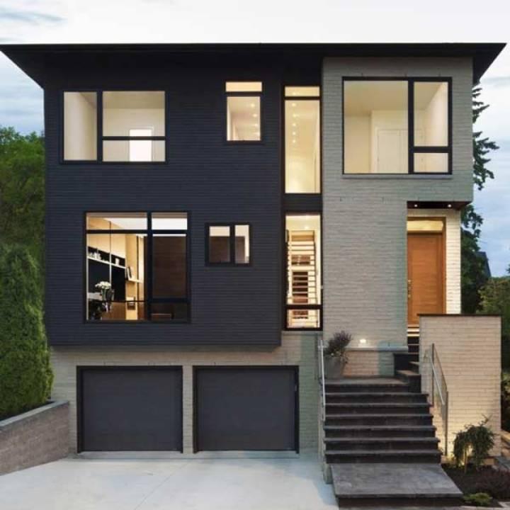 Kombinasi Warna Cat Rumah Biru Tampak Depan  120 warna cat rumah minimalis mewah dan menawan 2018