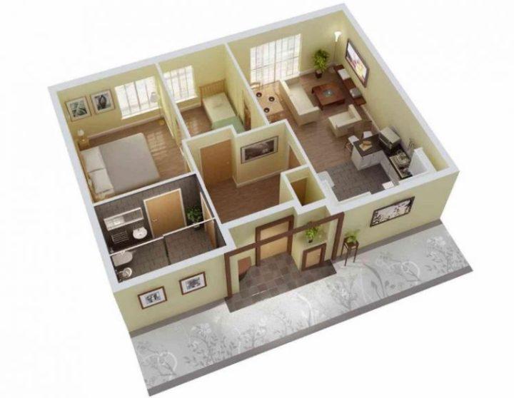 Desain Rumah Minimalis Ukuran 6x8  73 ide denah rumah ideal terpopuler denah