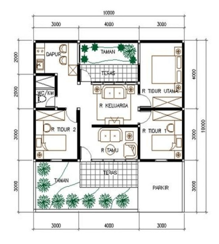 85 Gambar Rumah Sederhana Pakai Pensil HD Terbaru