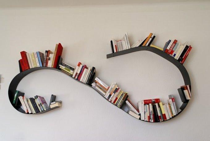 rak buku minimalis modern