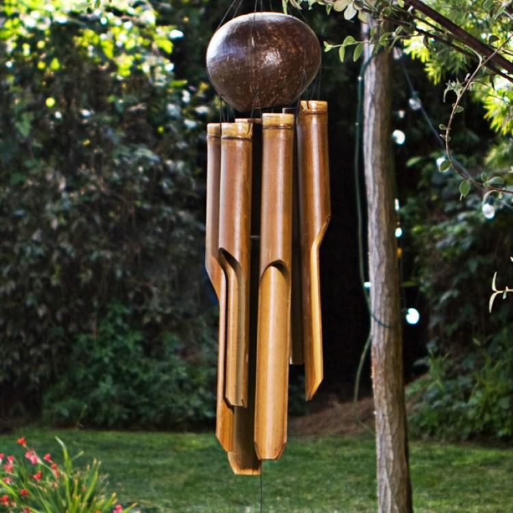 kerajinan lonceng angin dari bambu
