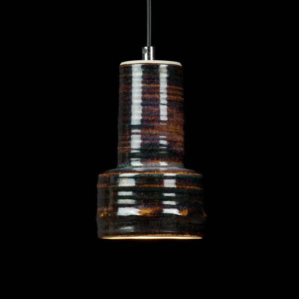 Hampen Keramik Bjórr ceramic pendant light with ash glaze - Keramiklampe i stentøj med askeglasur