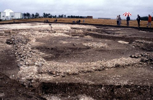 Houghton Down: general view of the excavations in 1997