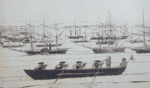 Sketch from Sir William Norcott's diary